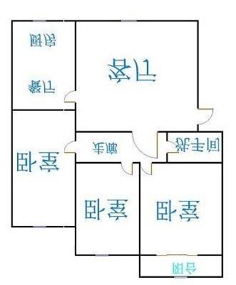 设计院宿舍 3室2厅 双证齐全过五年 精装 82万