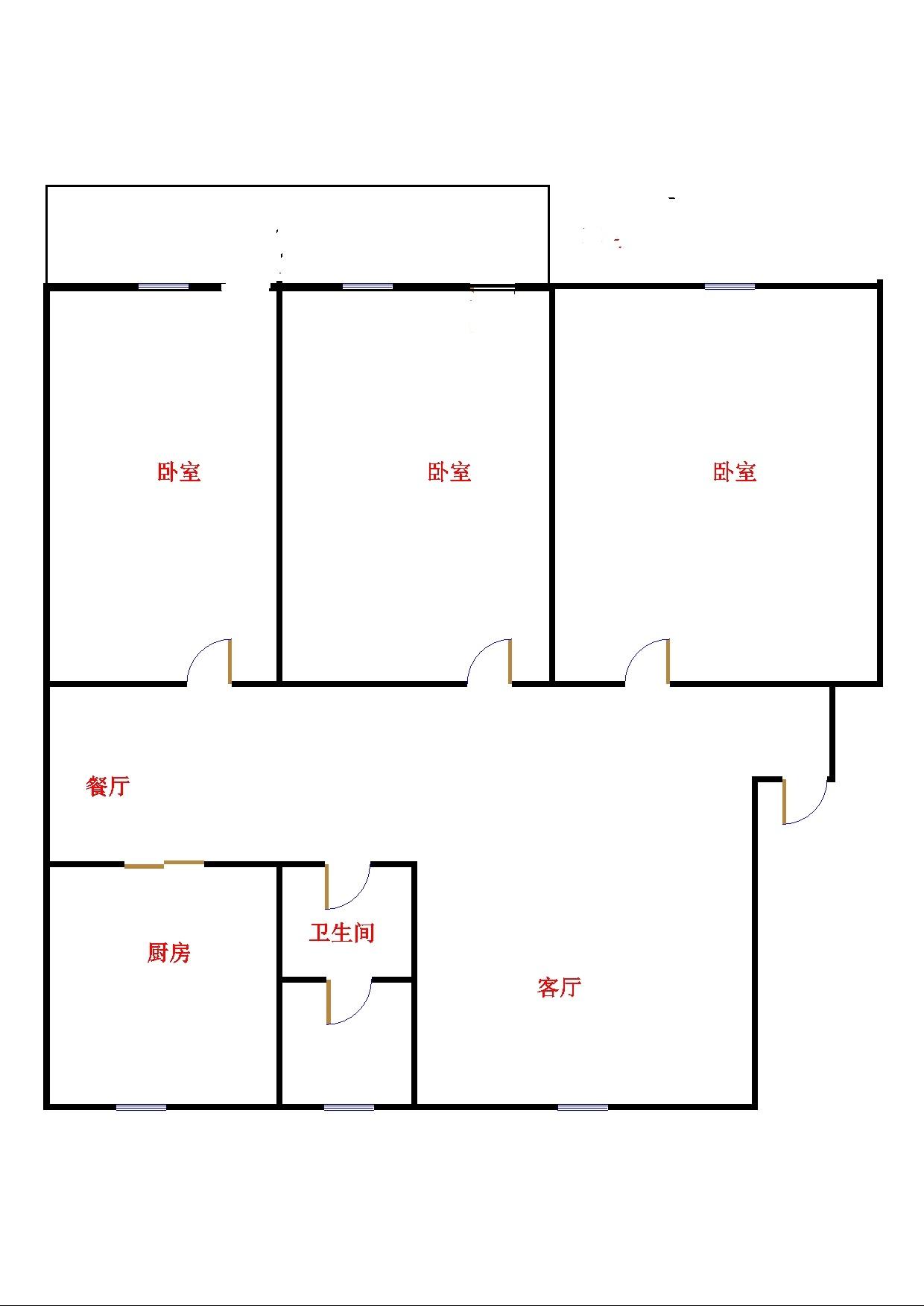长青小区 3室2厅  精装 150万