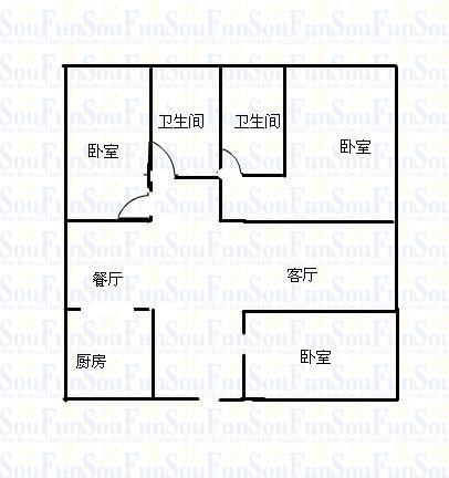 东方夏威夷 3室2厅  毛坯 152万
