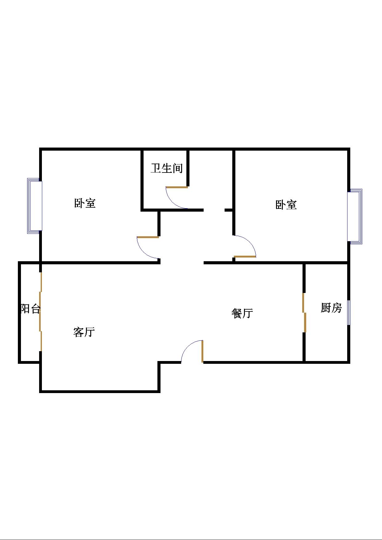 五环庄园 2室2厅 双证齐全过五年 精装 110万