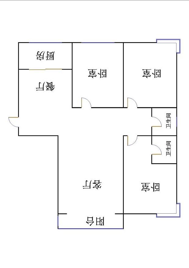 东方明珠小区 3室2厅 21楼