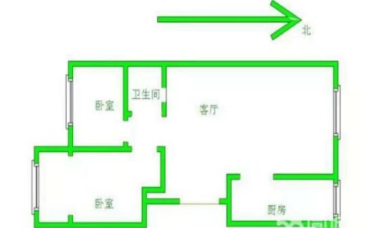 南龙国际花园 2室2厅 双证齐全过五年 简装 100万