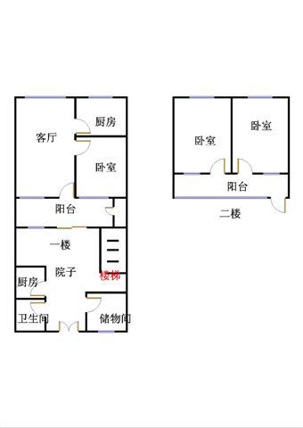 北园小区 4室4厅 1楼