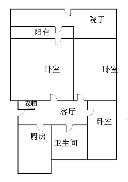 北园小区 3室2厅 1楼
