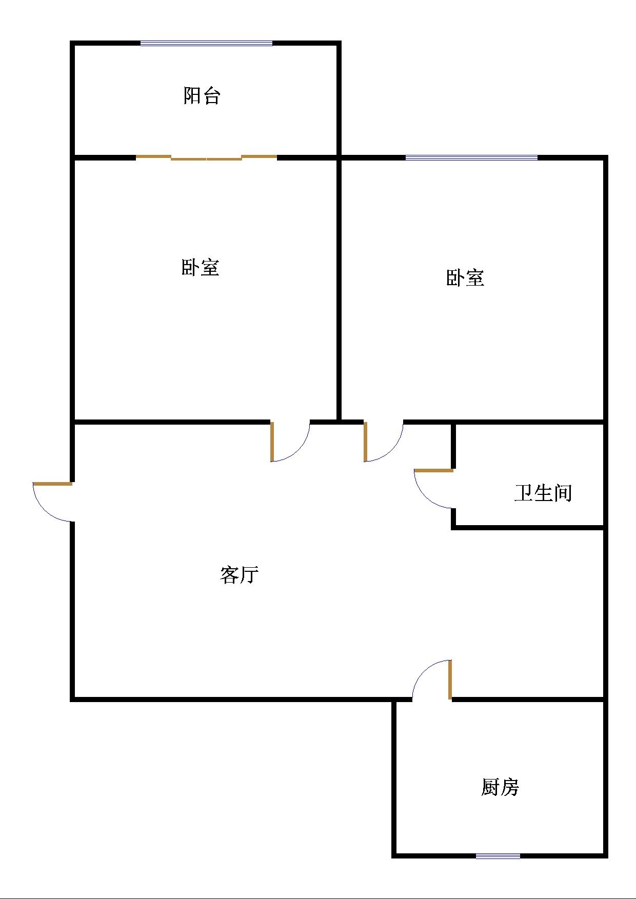 湘江小区南区 2室2厅  简装 70万
