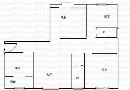 星河湾 3室2厅  简装 130万