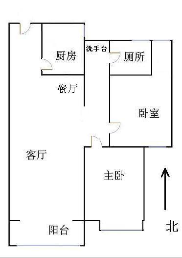 唐人中心 2室2厅  简装 125万