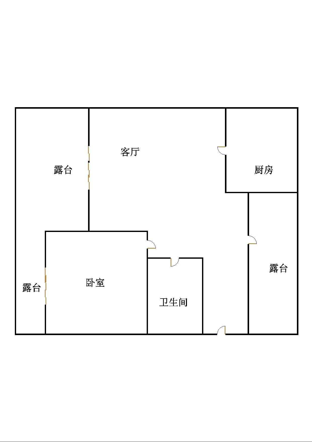 盛和景园 1室1厅 6楼