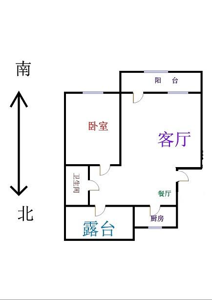 嘉城名居 1室1厅 7楼