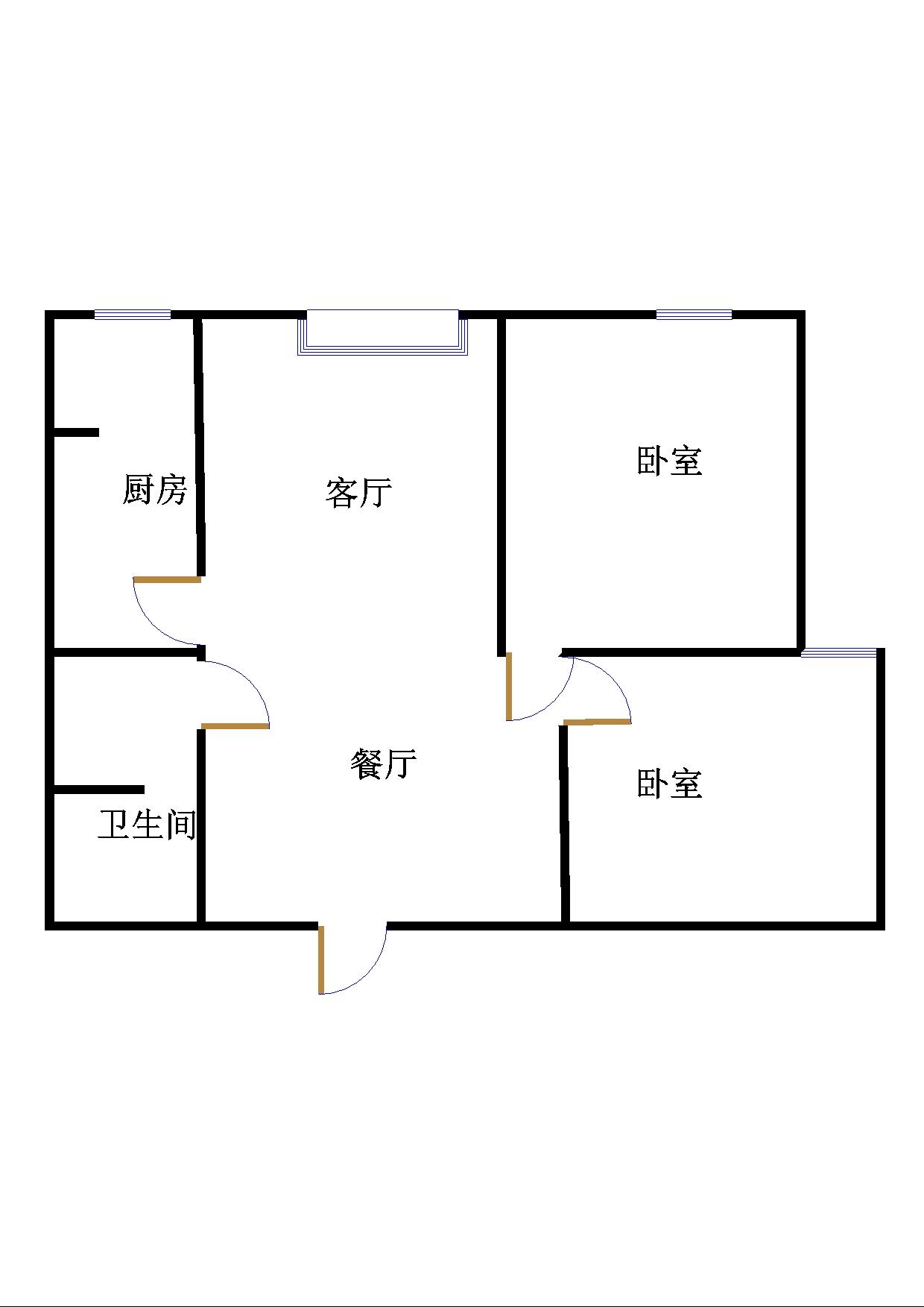 金色雅园 2室2厅 1楼