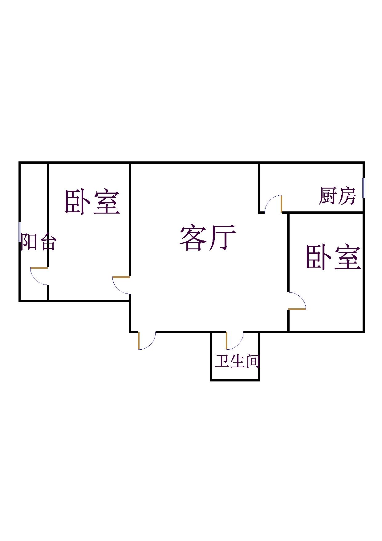 北园小区 2室2厅 4楼