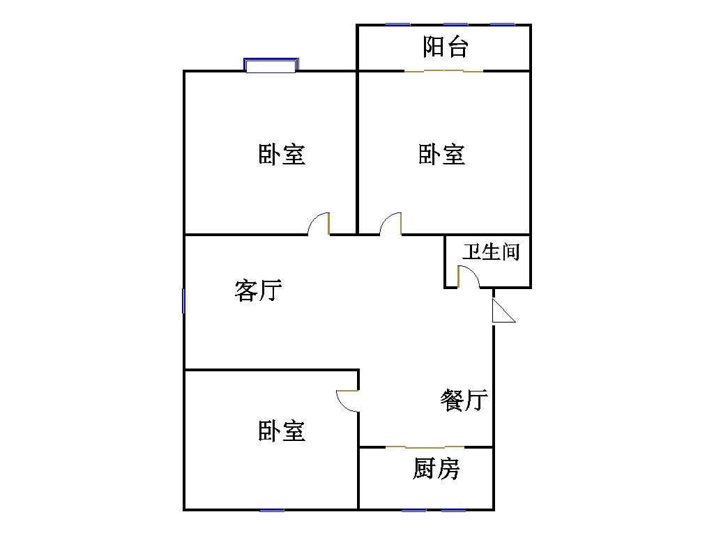 东海现代城小区 3室2厅 4楼