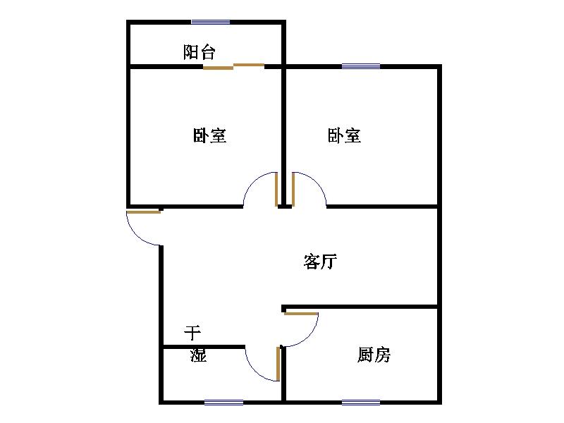东长庄园 2室1厅 1楼