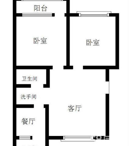 人民医院南宿舍 2室2厅  简装 128万