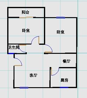 华清庄园 2室2厅 过五年 精装 80万