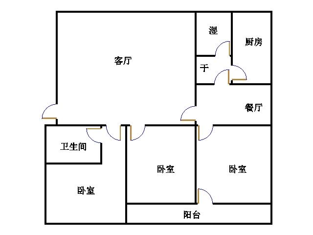 青龙潭小区 3室2厅 过五年 简装 150万