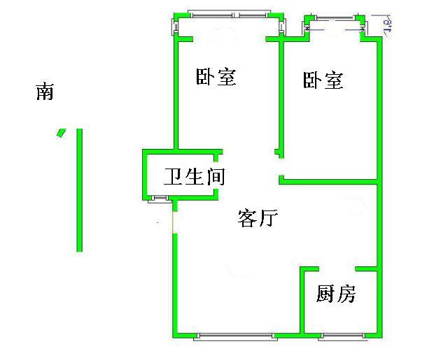 岔河紫薇园 2室2厅  简装 95万