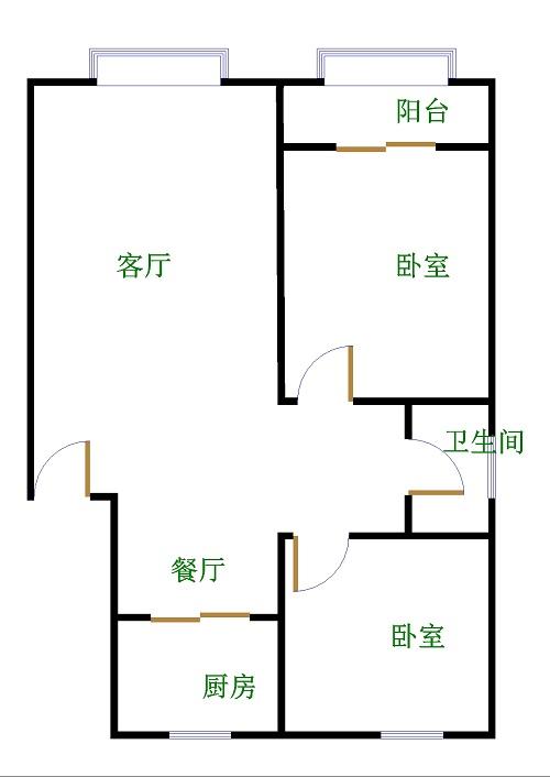 亚太东苑 2室2厅 双证齐全 简装 78万