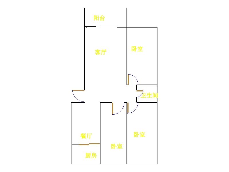领秀天衢 3室2厅 3楼