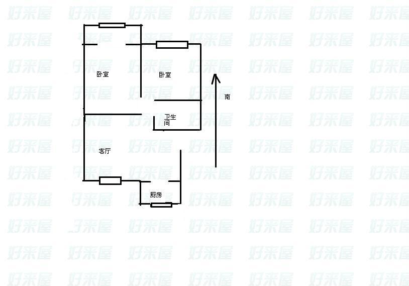 天华锦绣园 2室2厅 5楼