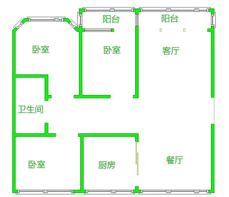 名苑小区 3室2厅 4楼