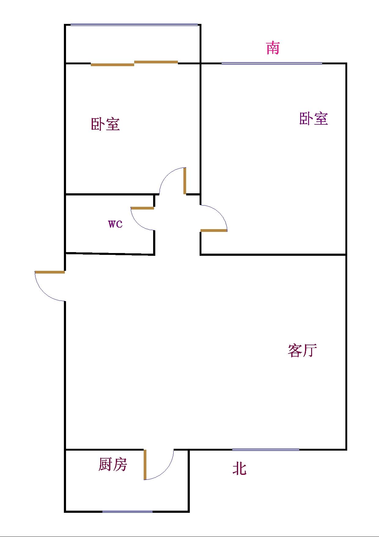 金卉小区 2室1厅 双证齐全过五年 简装 56万