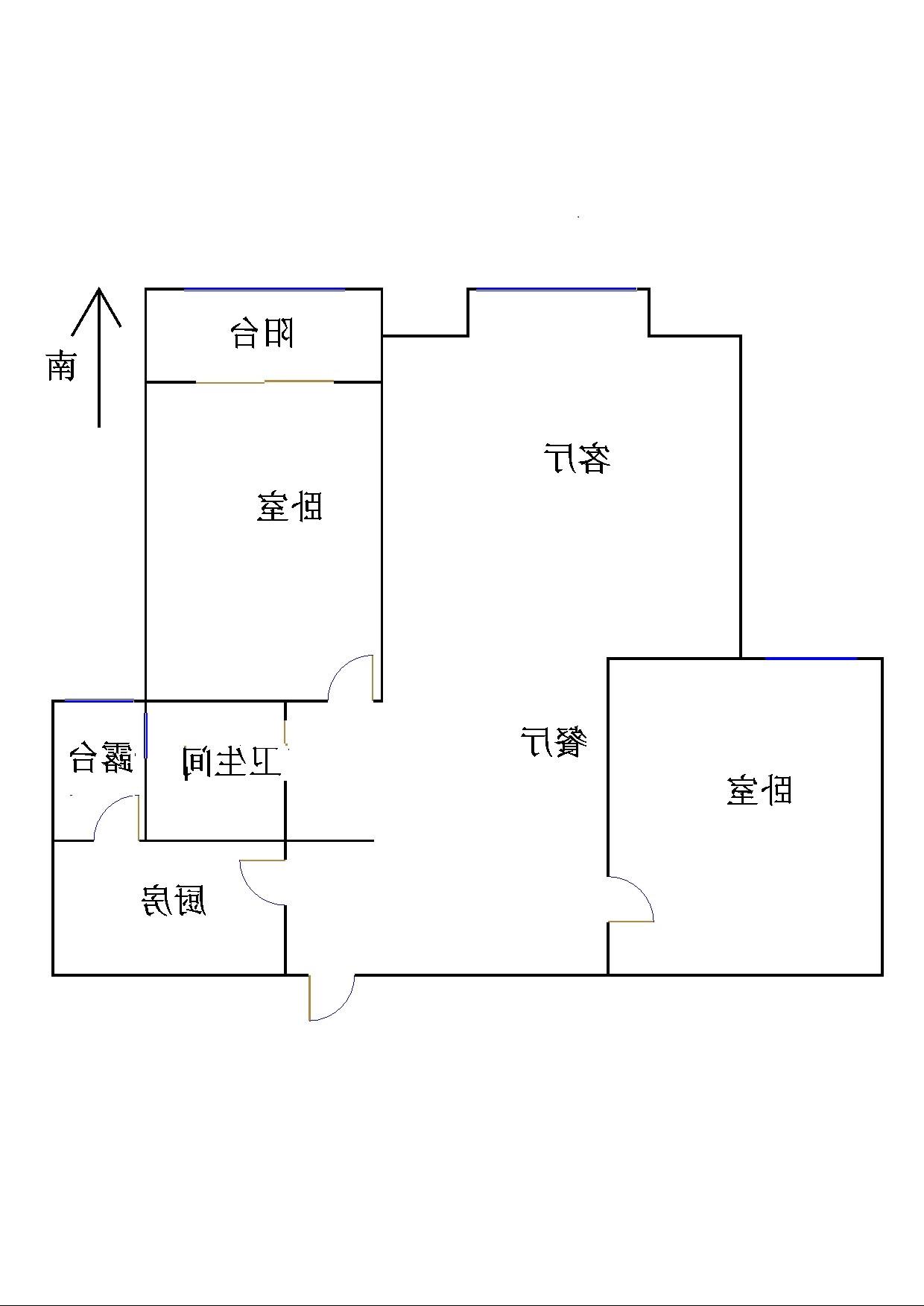 金鼎公馆 2室2厅 3楼