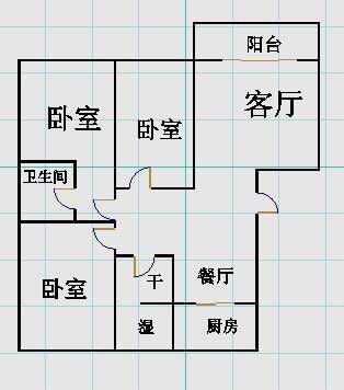 绿景家园小区 3室2厅 3楼