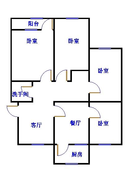 肖月小区(教师宿舍新区) 3室2厅 6楼