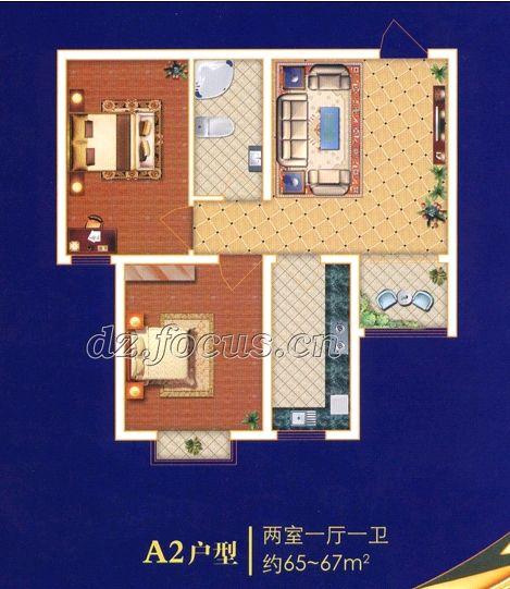 尚城国际 2室1厅 双证齐全 简装 62万