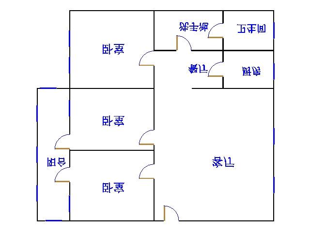 湘江小区南区 3室2厅  简装 110万