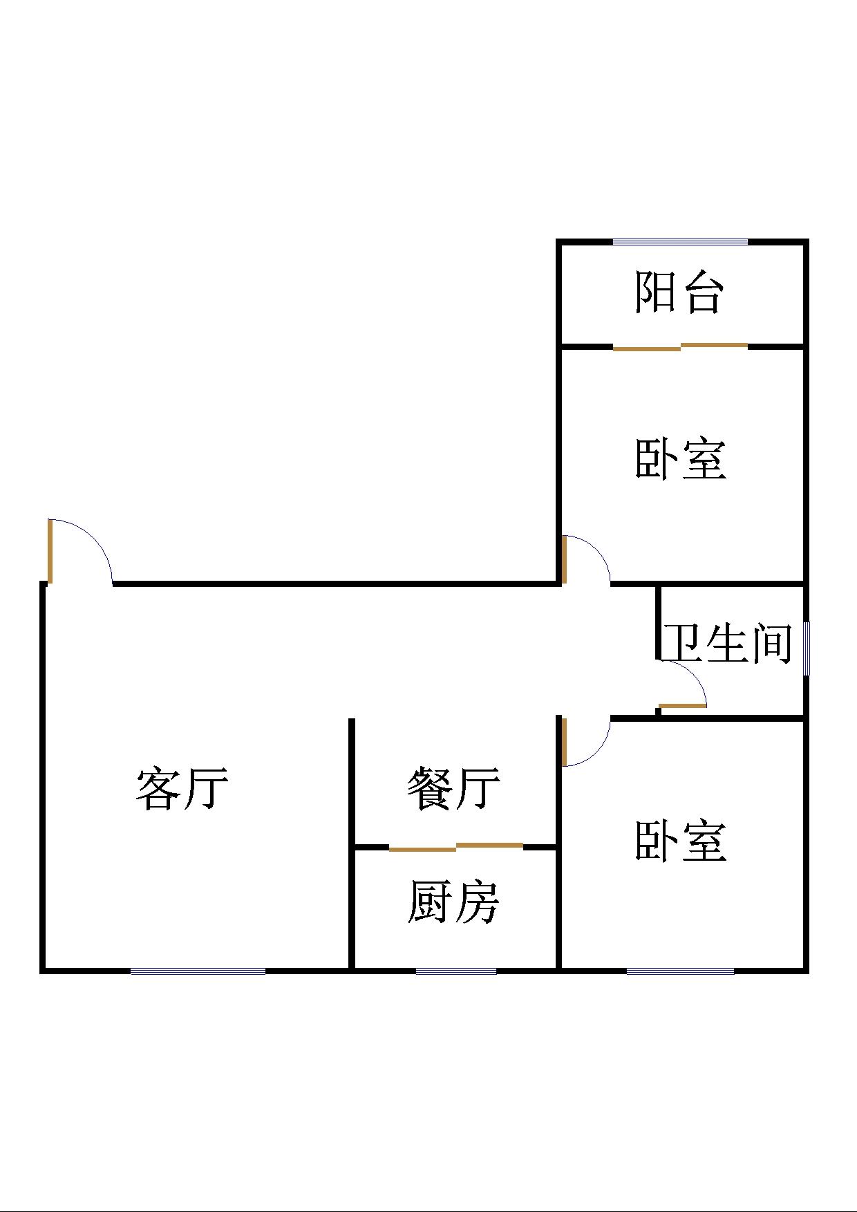 万豪华庭公馆 2室2厅 3楼