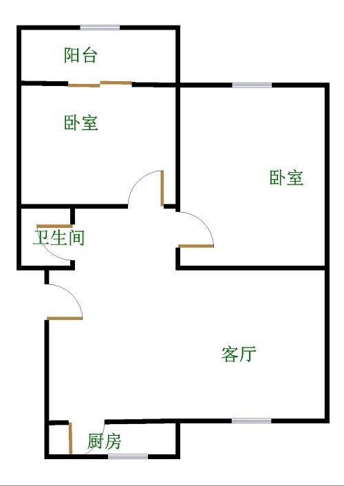 乾城保障房 2室1厅 5楼