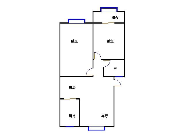 西长新村 2室2厅  精装 32万