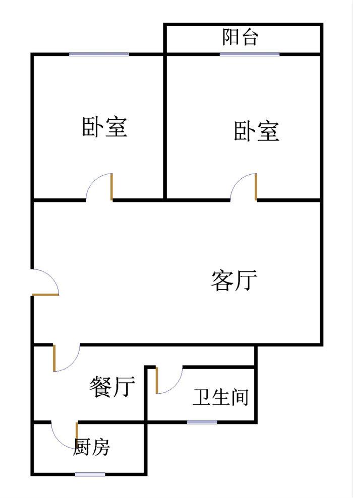 二塑宿舍 2室2厅  简装 42万