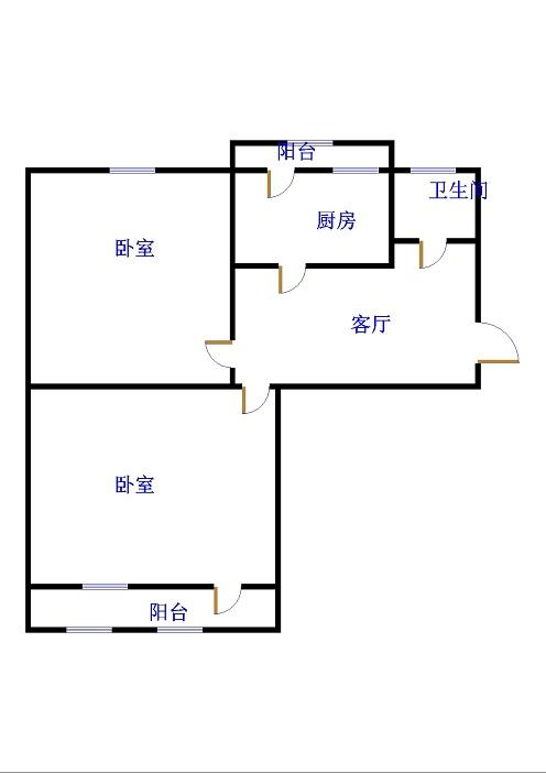 岔河小区 2室2厅 双证齐全 简装 55万