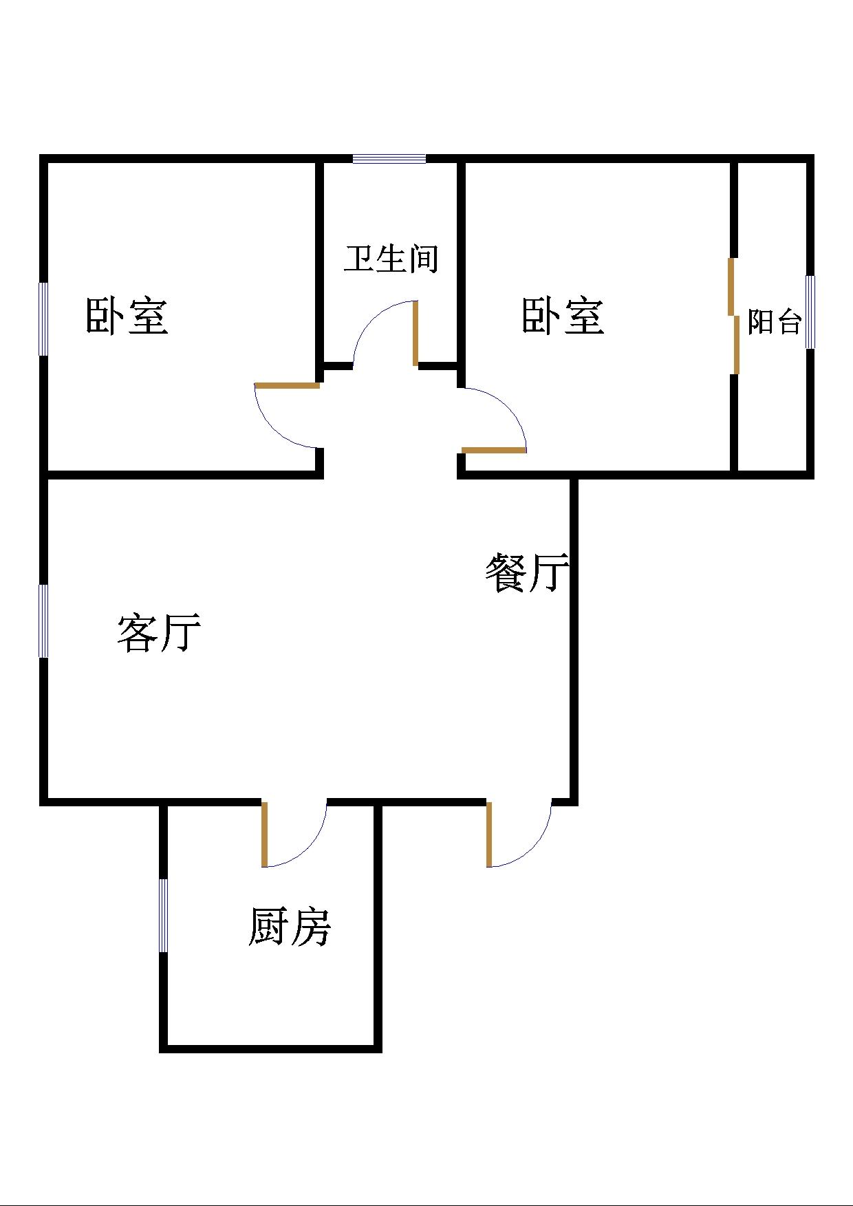 南苑花城 2室2厅  简装 77.8万