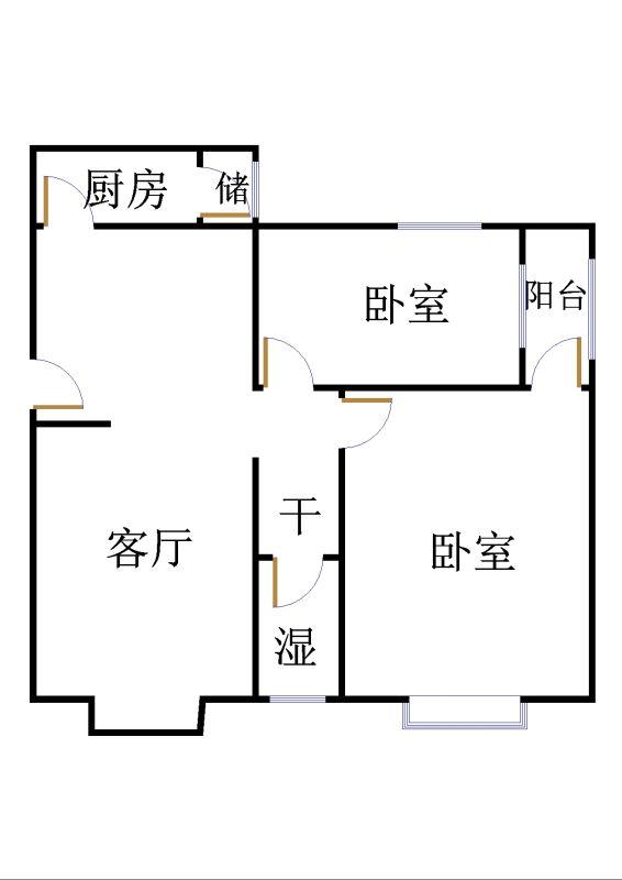 五环庄园 2室2厅  简装 90万