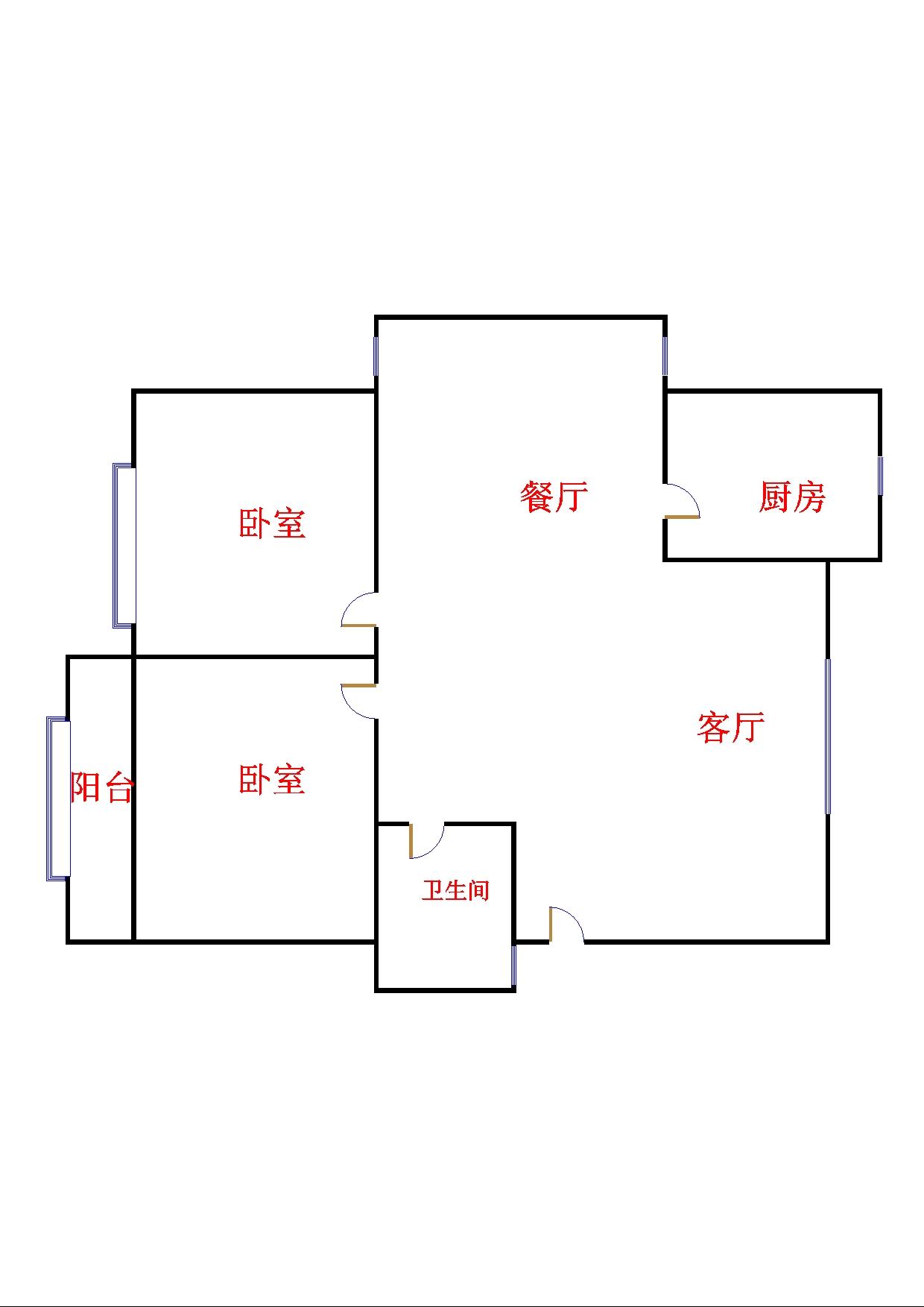 绿景家园小区 2室2厅 双证齐全 简装 66万