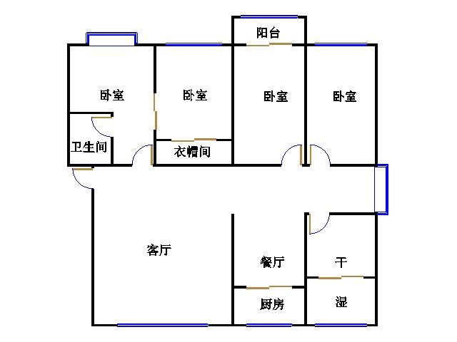 新湖家园 4室2厅  精装 255万