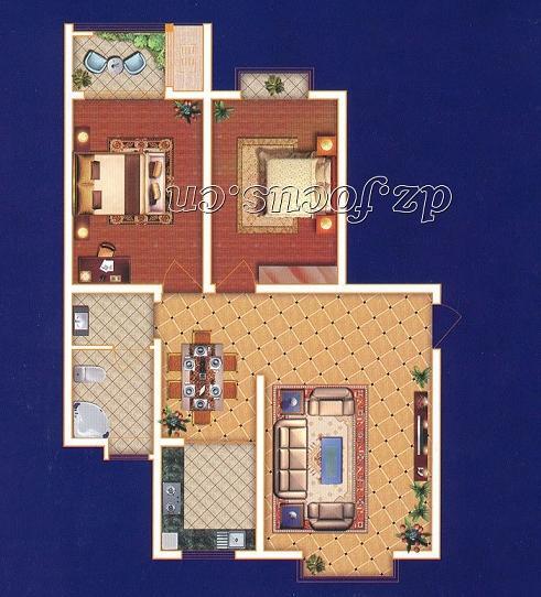 尚城国际 2室2厅 双证齐全 精装 105万