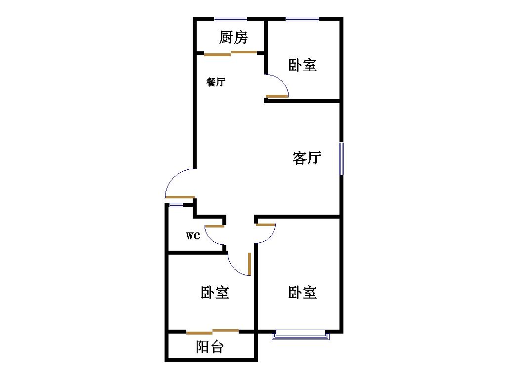 康宁静雅园 3室2厅 双证齐全 简装 138万