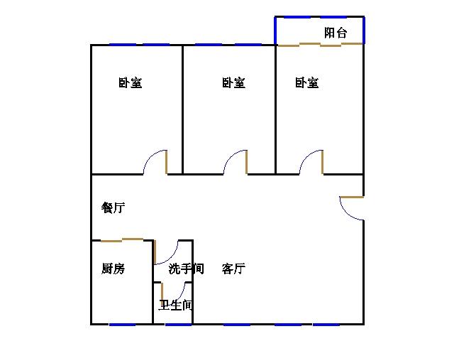 地震局宿舍 3室2厅 双证齐全 简装 175万