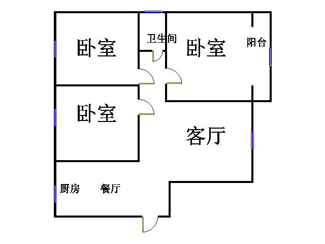 金腾豪庭 3室2厅 双证齐全 精装 125万