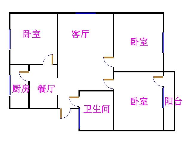岔河小区 3室1厅  简装 115万