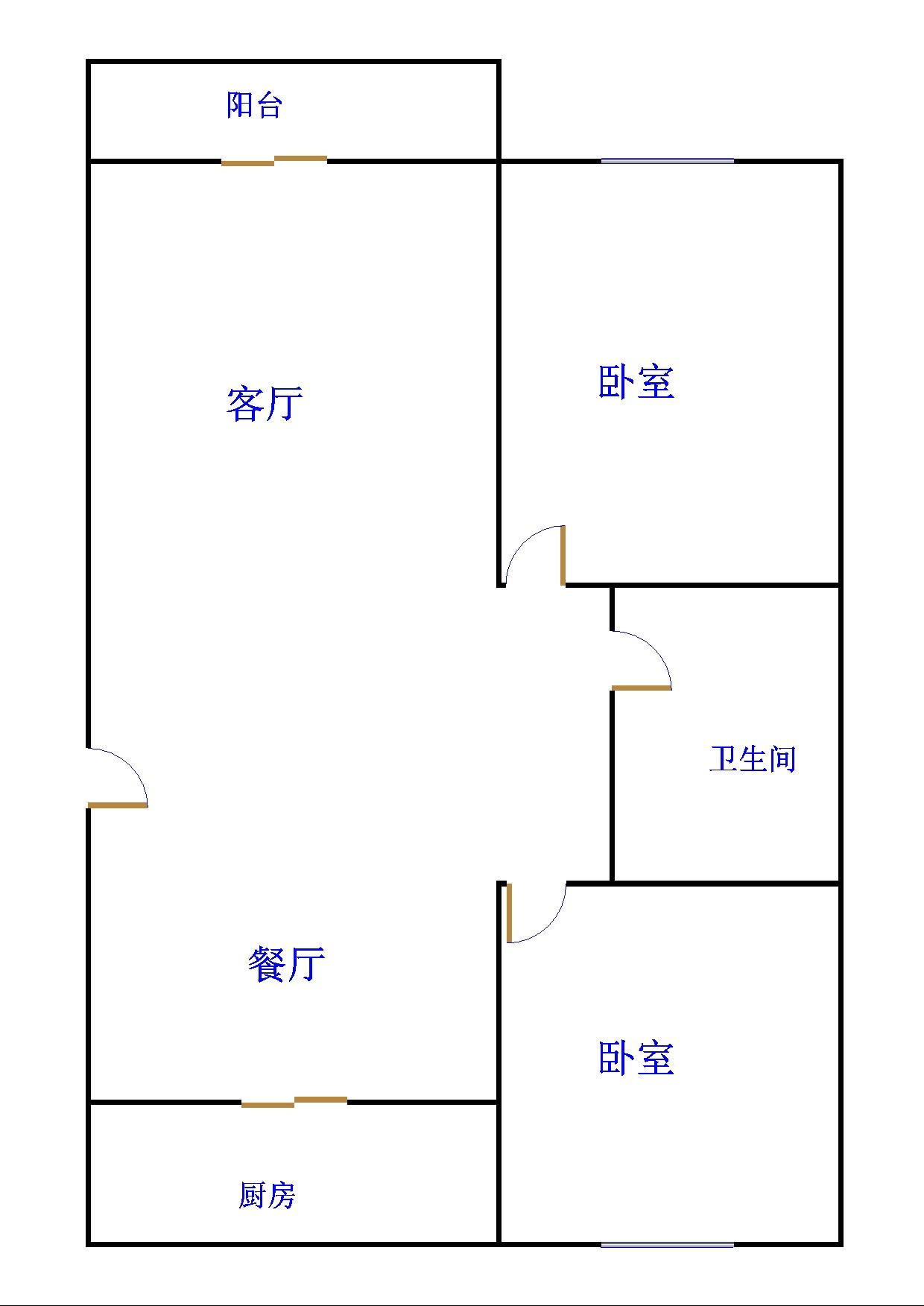 乾城尊府 2室2厅  简装 87万