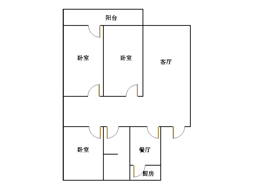 皇明宿舍小区 3室2厅 双证齐全过五年 简装 58万