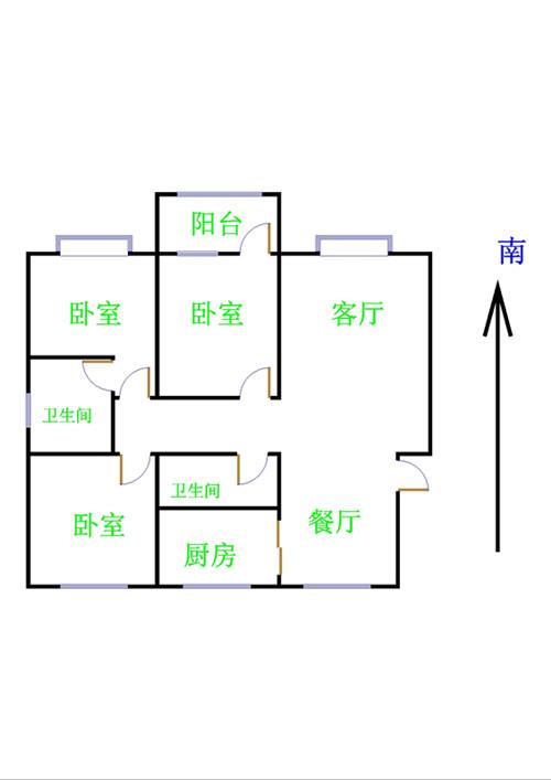 中茂家园 3室2厅 8楼