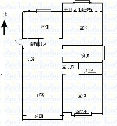 万达广场 3室2厅  精装 128万