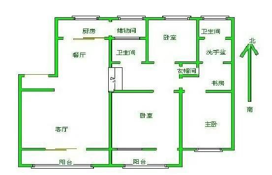五环庄园 3室2厅  简装 169万